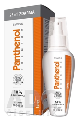 SWISS Panthenol PREMIUM spray (s aloe) 150+25 ml zadarmo (175 ml)
