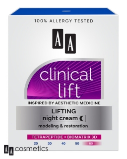AA Clinical Lift NOČNÝ KRÉM 60+ 50ml